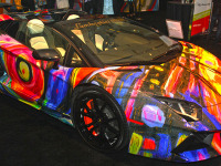 Cars Art Meet at he Miami Auto Show Turns into a Stunning Art Gallery