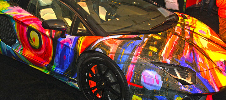 Cars Art Meet At He Miami Auto Show Turns Into A Stunning