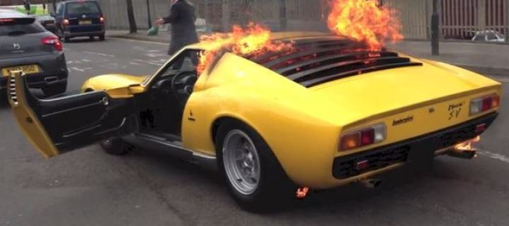 Owner of Lamborghini Miura Which Went Up in Flames Sues the Garage that Messed it Up