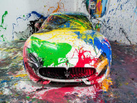 Painted Supercars Show up at Miami's Art Basel