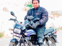 Pune biker Devjeet Saha sets Bun Burner record: rides 2421 kms in 35 hours 10 mins on Hero Splendor Pro
