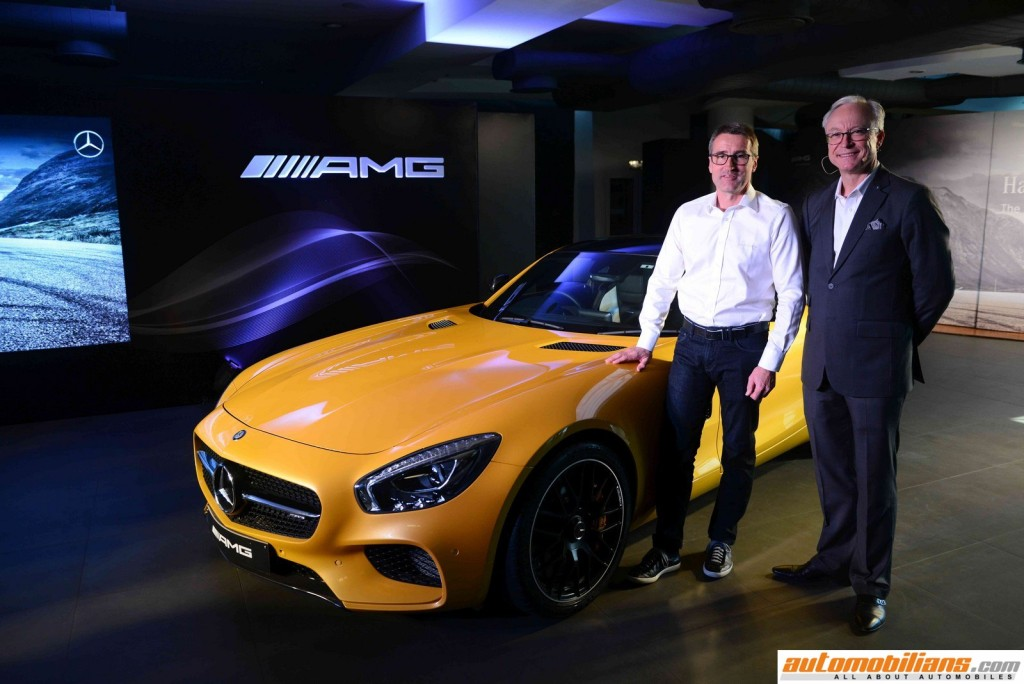 L-R Racing Legend Bernd Schneider with Roland Folger, MD & CEO, Mercedes-Benz India at the Launch of AMG GT S in New Delhi (Copy) (Copy)