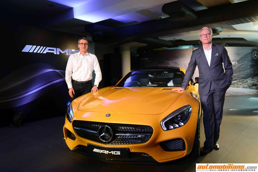 L-R Racing Legend Bernd Schneider with Roland Folger, MD & CEO, Mercedes-Benz India at the Launch of AMG GT S in New Delhi(2) (Copy) (Copy)