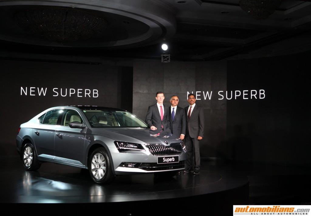 L-R Mr. Werner Eicchorn, Member of Board, Sales and Marketing, SKODA Auto, Mr. Sudhir Rao, CMD, SKODA Auto India, Mr. Ashutoh Dixit , Director, Sales, Services and Marketing, SKODA Auto India (1) (Copy)