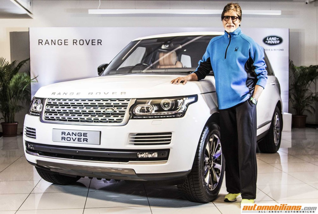 Mr. Amitabh Bachchan with The Range Rover Autobiography (4)