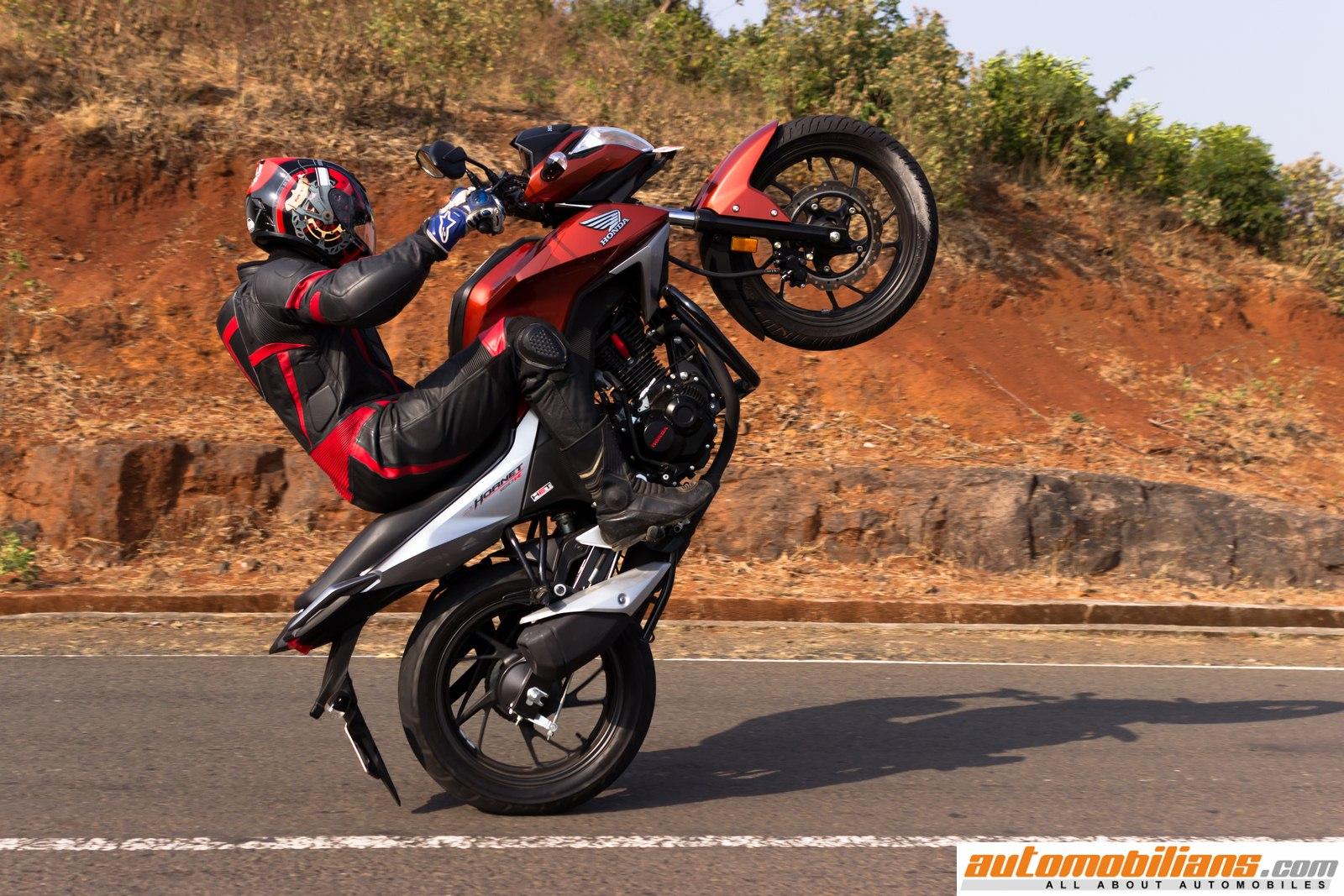 Automobilians Com Honda Cb Hornet 160r Std Test Ride