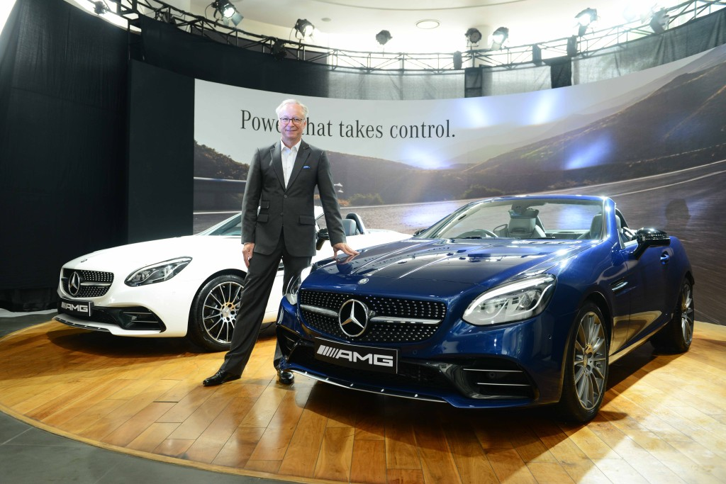 Mr. Roland Folger, Managing Director & CEO, Mercedes-Benz India at the launch of Mercedes- AMG SLC 43 in Delhi- 1