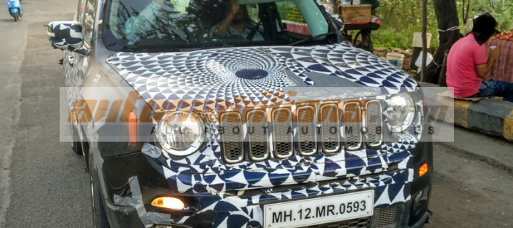 Jeep Renegade Caught Testing In Pune, Maharashtra