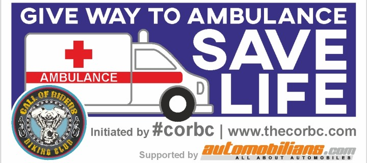 Give Way To Ambulance, Save Lives | A Ride For A Good Cause