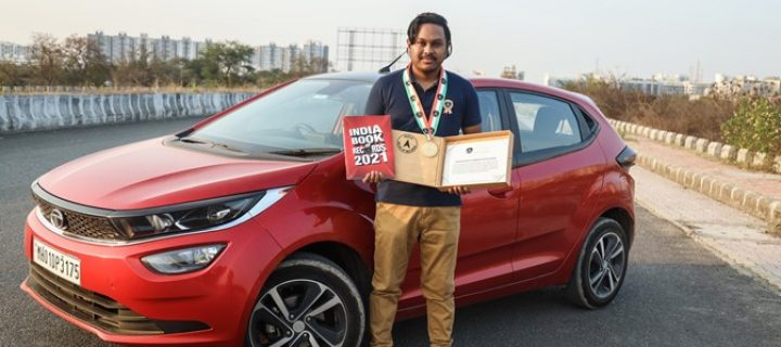 Devjeet Saha covers 1603 km in less than 24 hours in a Tata Altroz