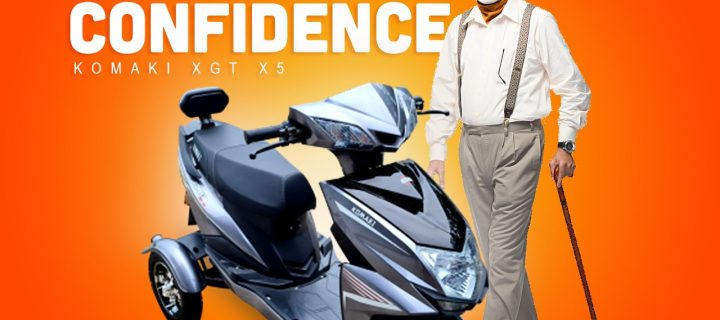 Komaki XGT X5 EV Scooter Launched In India For Elderly And Specially-Abled People At Rs. 72,500/- (Ex-Showroom)